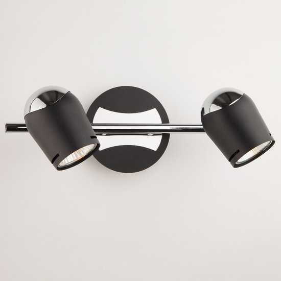 Фото №2 Настенный светильник с поворотными плафонами 20057/2 хром/черный