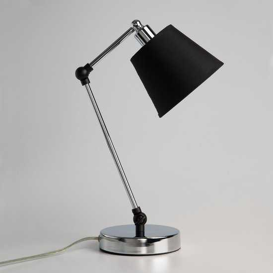 Фото №2 Настольная лампа в стиле лофт 01015/1 хром