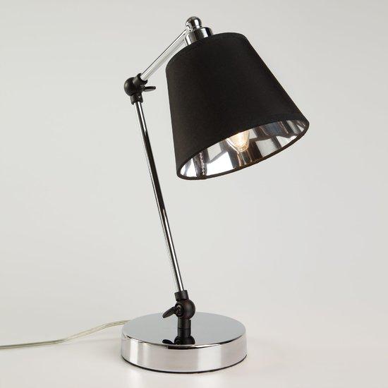 Фото №3 Настольная лампа в стиле лофт 01015/1 хром