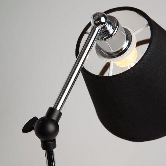 Фото №6 Настольная лампа в стиле лофт 01015/1 хром