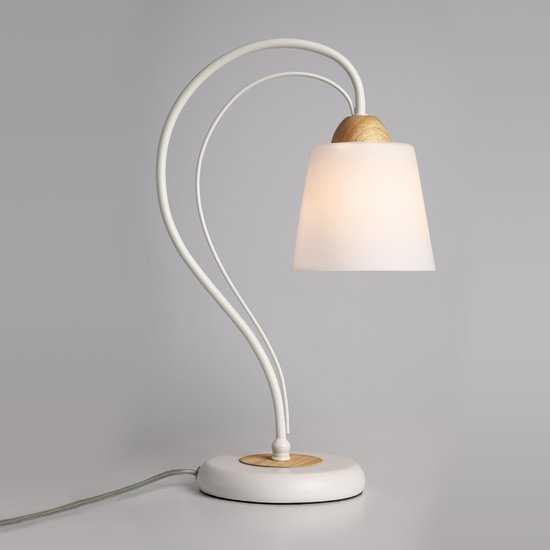 Фото №2 Настольная лампа 01014/1 белый