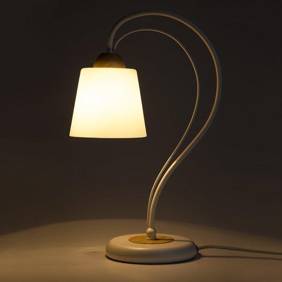 Фото №7 Настольная лампа 01014/1 белый
