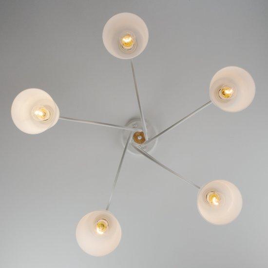 Фото №4 Потолочная люстра со стеклянными плафонами 70062/5 белый