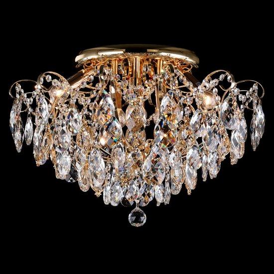 Фото №3 Потолочная люстра с хрусталем 10081/6 золото / прозрачный хрусталь