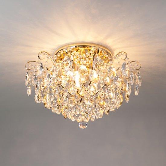 Фото №4 Потолочная люстра с хрусталем 10081/6 золото / прозрачный хрусталь