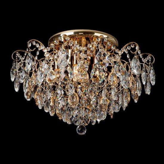Фото №5 Потолочная люстра с хрусталем 10081/6 золото / прозрачный хрусталь