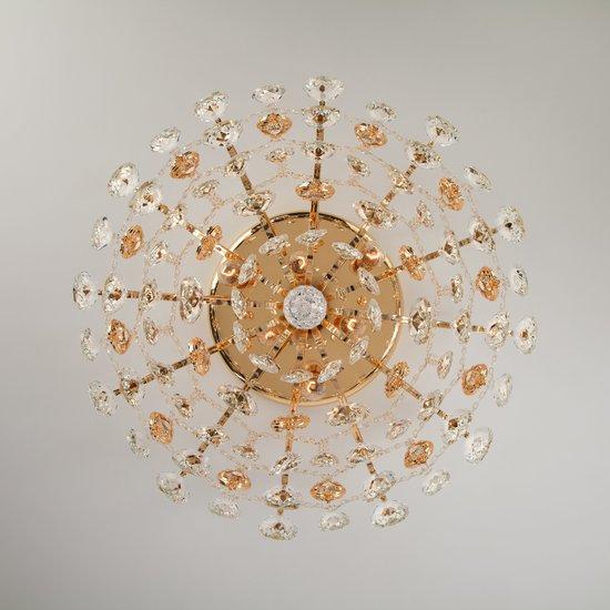 Фото №7 Потолочная люстра с хрусталем 10081/6 золото / прозрачный хрусталь