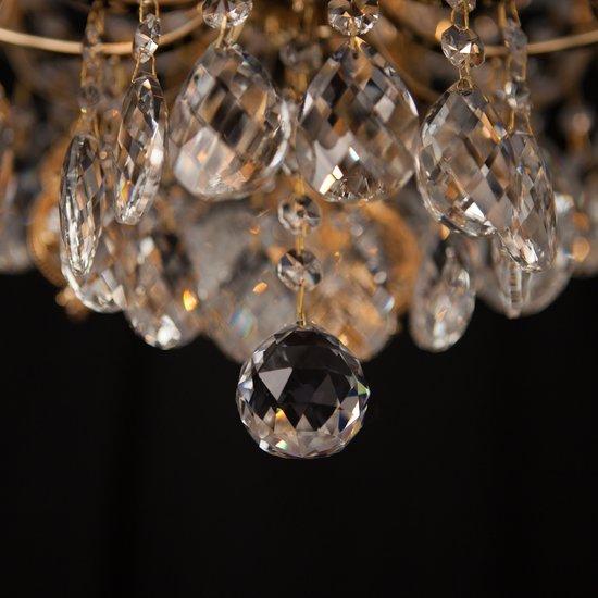 Фото №9 Потолочная люстра с хрусталем 10081/6 золото / прозрачный хрусталь