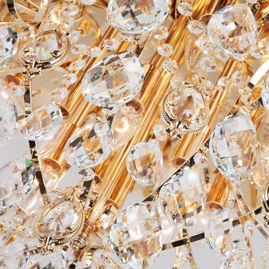 Фото №7 Потолочная люстра с хрусталем 10081/12 золото / прозрачный хрусталь