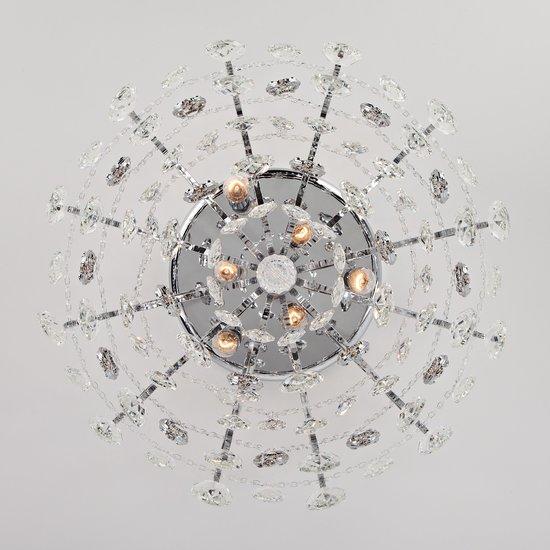 Фото №7 Потолочная люстра с хрусталем 10081/6 хром / прозрачный хрусталь