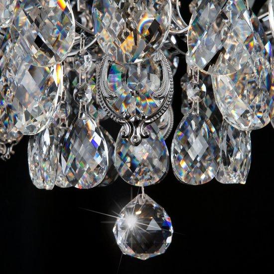 Фото №11 Потолочная люстра с хрусталем 10081/6 хром / прозрачный хрусталь
