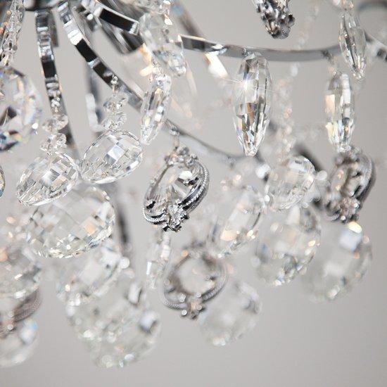Фото №6 Подвесная люстра с хрусталем 10080/6 хром / прозрачный хрусталь