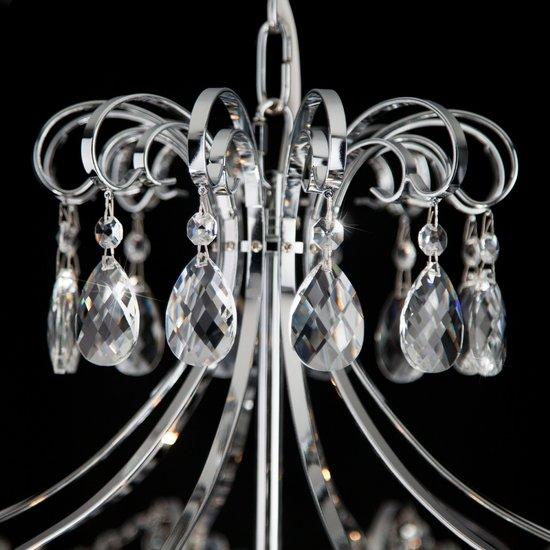 Фото №7 Подвесная люстра с хрусталем 10080/6 хром / прозрачный хрусталь