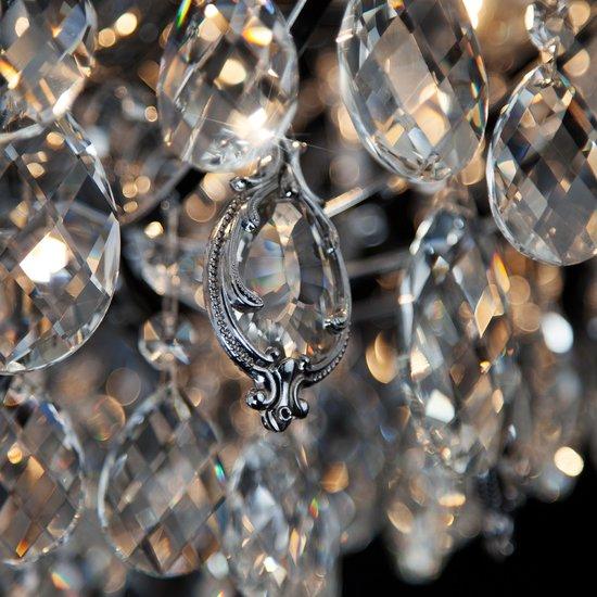 Фото №8 Подвесная люстра с хрусталем 10080/6 хром / прозрачный хрусталь