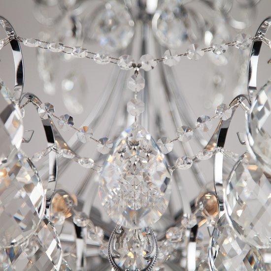 Фото №8 Подвесная люстра с хрусталем 10080/12 хром / прозрачный хрусталь