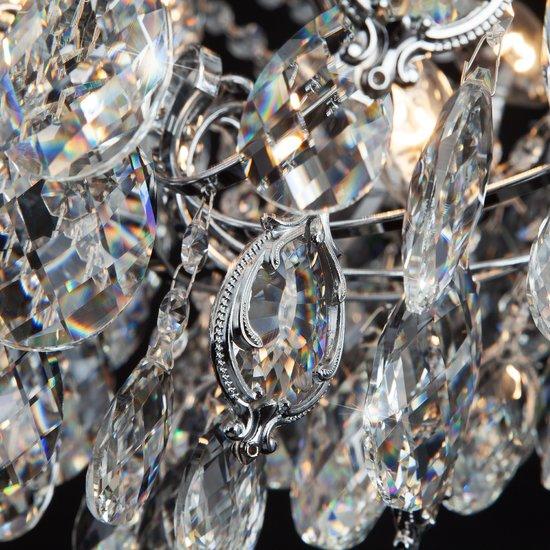 Фото №9 Подвесная люстра с хрусталем 10080/12 хром / прозрачный хрусталь