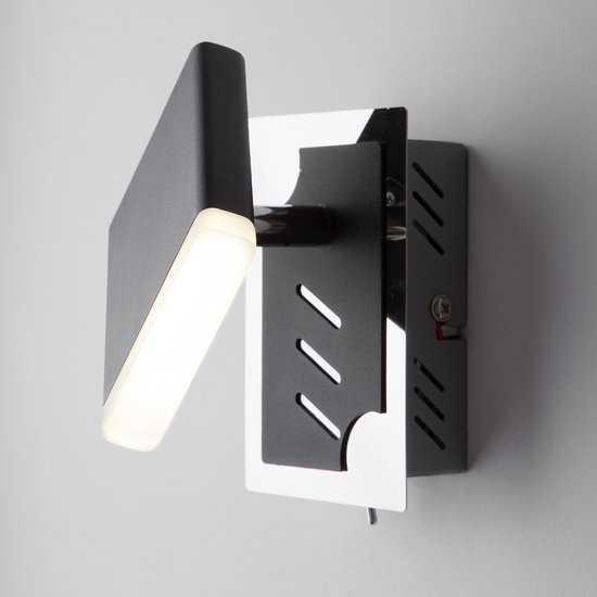 Фото №2 Светодиодный настенный светильник с поворотным плафоном 20000/1 черный