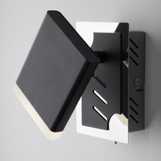 Фото №3 Светодиодный настенный светильник с поворотным плафоном 20000/1 черный