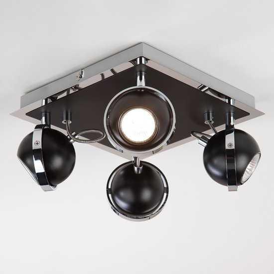Потолочный светильник с поворотными плафонами 20056/4 черный фото