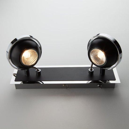 Фото №3 Настенный светильник с поворотными плафонами 20056/2 черный