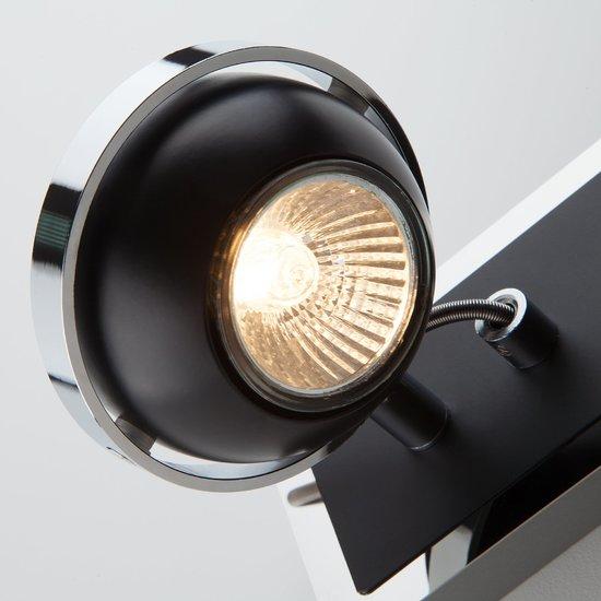 Фото №4 Настенный светильник с поворотными плафонами 20056/2 черный