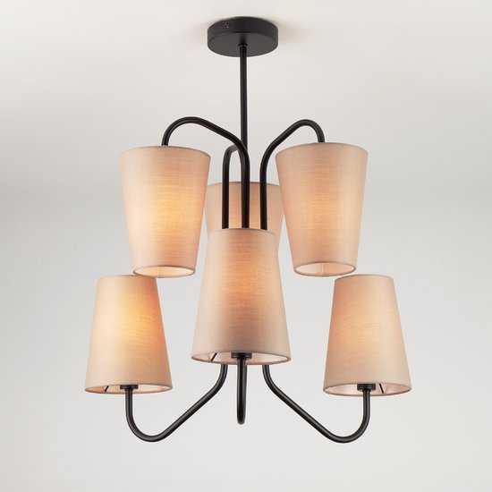 Фото №2 Подвесной светильник в стиле лофт 70060/6 черный