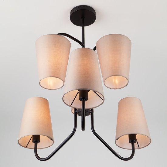 Фото №3 Подвесной светильник в стиле лофт 70060/6 черный