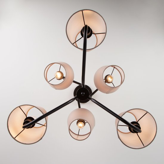 Фото №4 Подвесной светильник в стиле лофт 70060/6 черный
