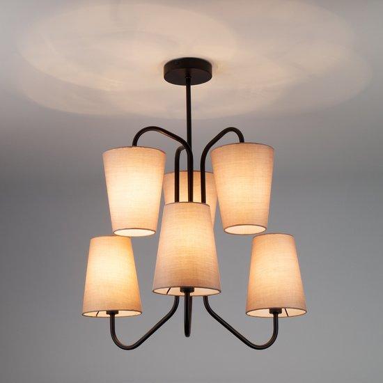 Фото №5 Подвесной светильник в стиле лофт 70060/6 черный