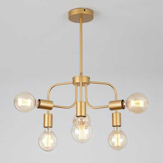 Подвесной светильник в стиле лофт 70058/6 золото фото