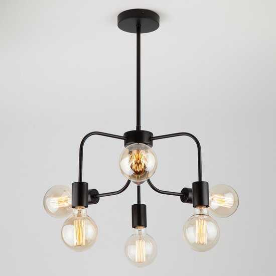 Подвесной светильник в стиле лофт 70058/6 черный фото