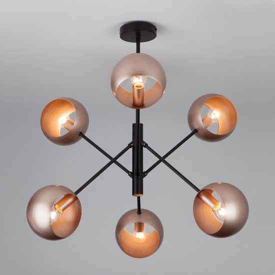 Подвесной светильник в стиле лофт 70057/6 перламутровое золото фото