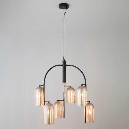 Фото №2 Подвесной светильник в стиле лофт 70054/6 перламутровое золото