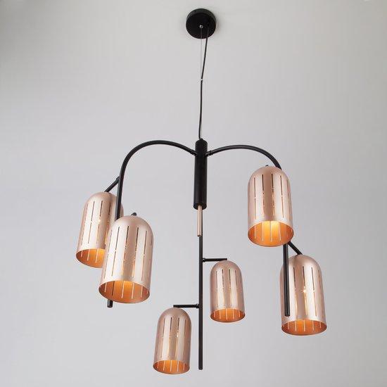 Фото №3 Подвесной светильник в стиле лофт 70054/6 перламутровое золото