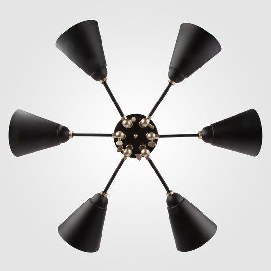 Фото №5 Потолочный светильник с поворотными рожками 70052/6 черный/золото
