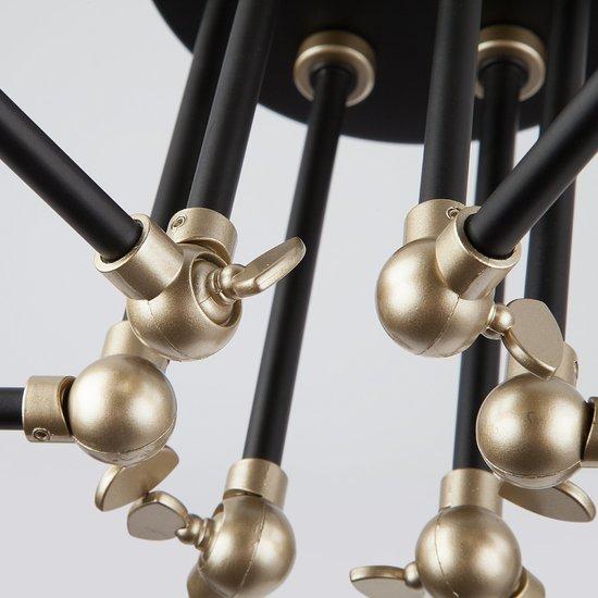 Фото №8 Потолочный светильник с поворотными рожками 70052/6 черный/золото