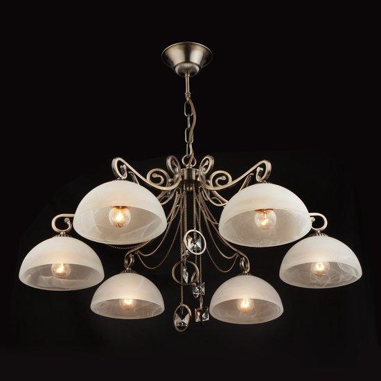 Фото №4 Подвесная люстра в классическом стиле 60062/6 античная бронза