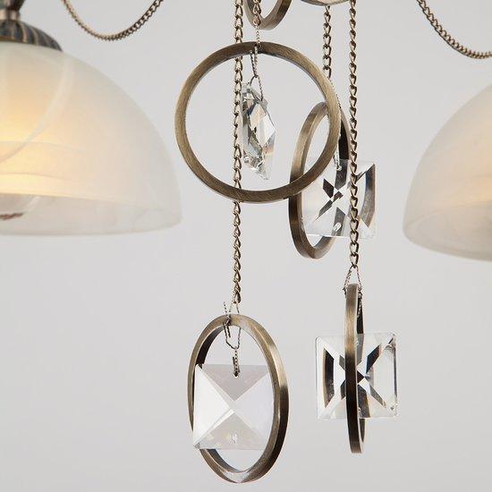 Фото №6 Подвесная люстра в классическом стиле 60062/6 античная бронза