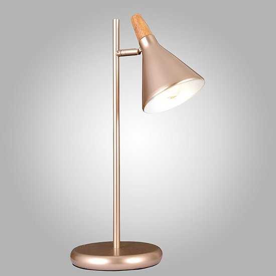 Фото №2 Настольная лампа 01012/1 перламутровое золото