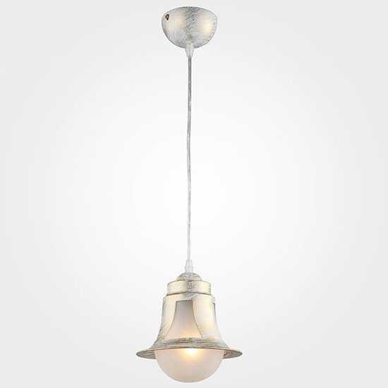 Подвесной светильник 50055/1 белый с золотом фото