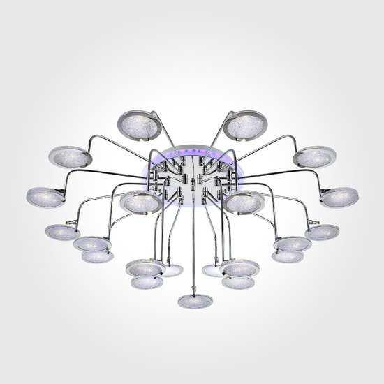 Люстра потолочная со светодиодной подсветкой 80109/21 хром фото