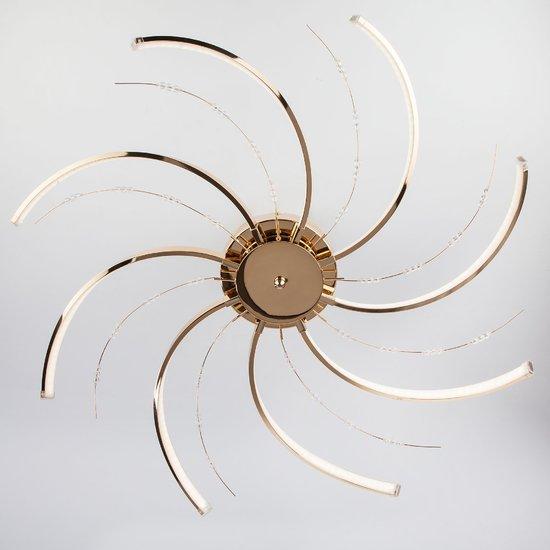 Фото №3 Светодиодный потолочный светильник 90054/8 золото
