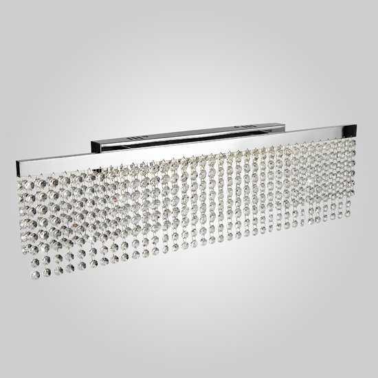 Фото №2 Светодиодный настенный светильник с хрусталем 90049/1 хром