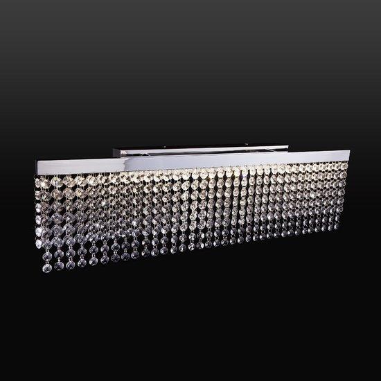 Фото №3 Светодиодный настенный светильник с хрусталем 90049/1 хром