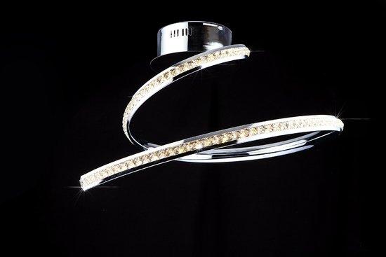 Фото №3 Светодиодный потолочный светильник с хрусталем 90045/1 хром