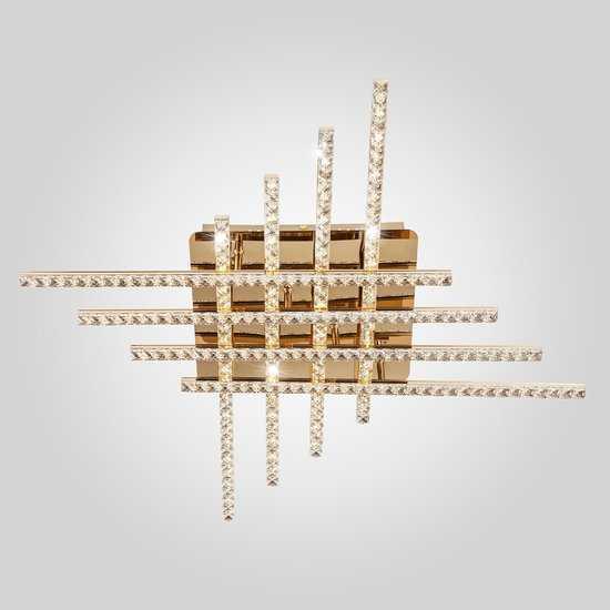 Светодиодный потолочный светильник с хрусталем 90041/8 золото фото