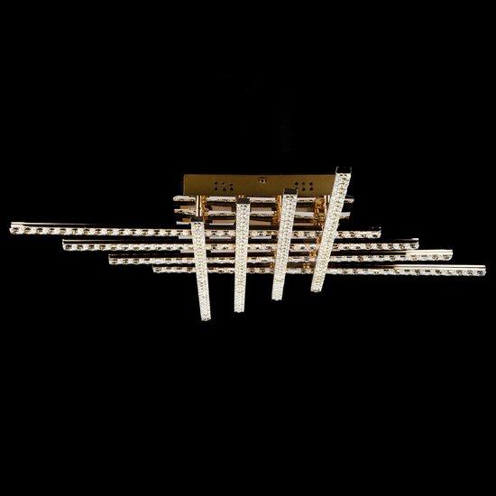 Фото №3 Светодиодный потолочный светильник с хрусталем 90041/8 золото