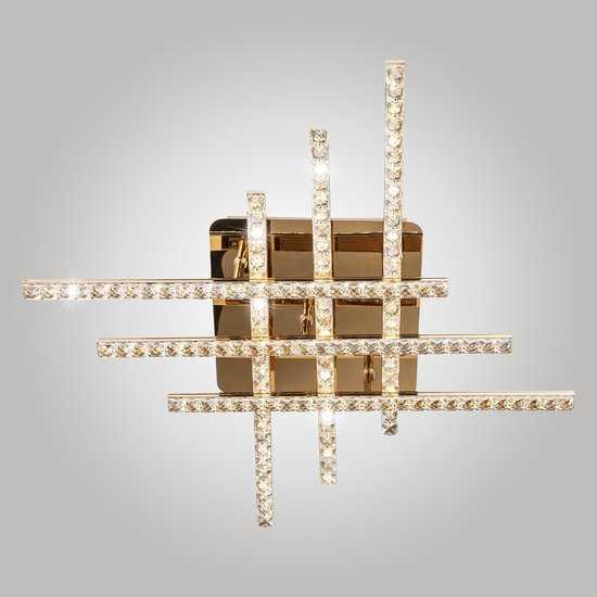 Светодиодный потолочный светильник с хрусталем 90041/6 золото фото