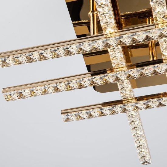 Фото №3 Светодиодный потолочный светильник с хрусталем 90041/6 золото
