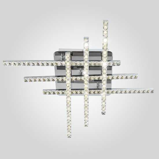 Светодиодный потолочный светильник с хрусталем 90041/6 хром фото